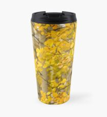 Closeup of Golden Aspen Grove Travel Mug