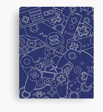 Control Freak Blue || Video Game Nerd Canvas Print