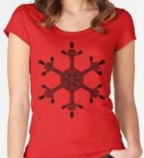Snowflake 16 black Women's Fitted Scoop T-Shirt