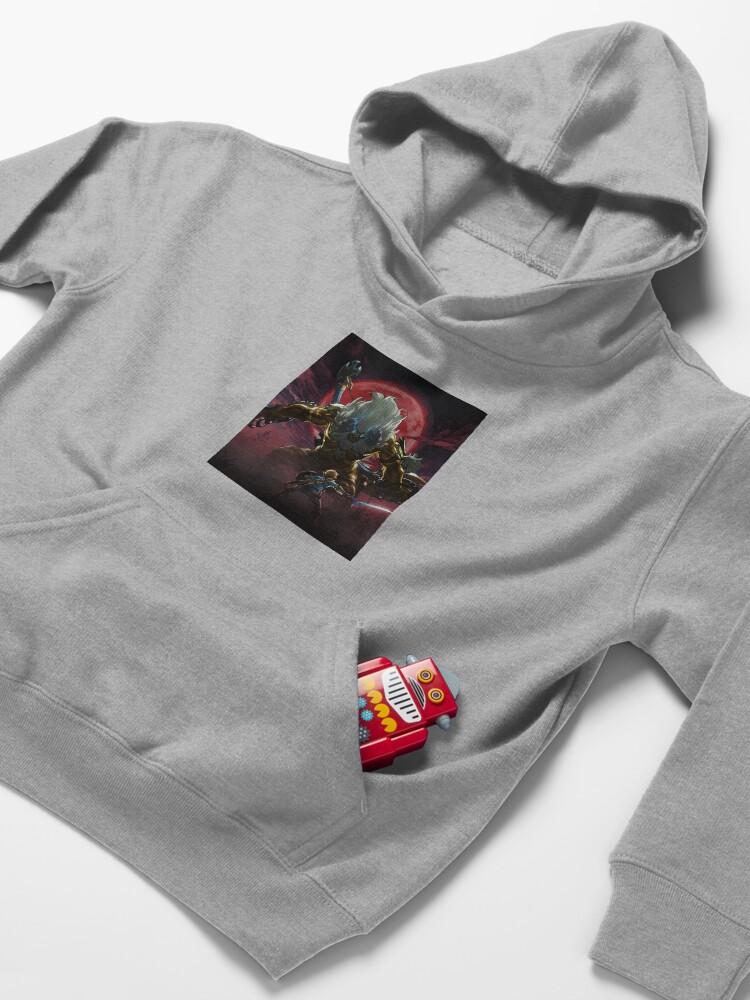 Vista alternativa de Sudadera con capucha para niños Zelda - Gold Lynel - Blood Moon
