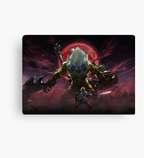 Zelda - Gold Lynel - Blood Moon Canvas Print