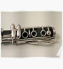 Clarinet - 3 Ring Keys and 4 Side Keys Poster