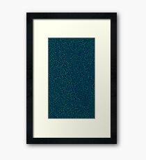 Abstract Pattern Green & Blue Framed Print