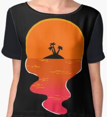 Deserted Lowering... Women's Chiffon Top