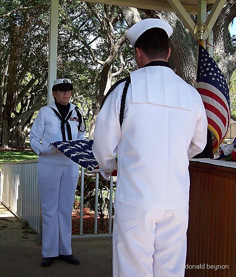 flag folding by donald beynon