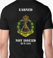Earned Not Issued-Color Skippy , white text for dark shirts or jumpers Unisex T-Shirt