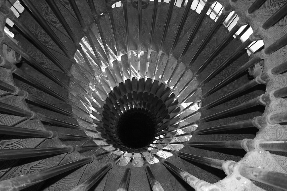 Stairs in Black and White by Andy Cook