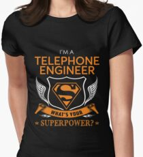 TELEPHONE ENGINEER Womens Fitted T-Shirt