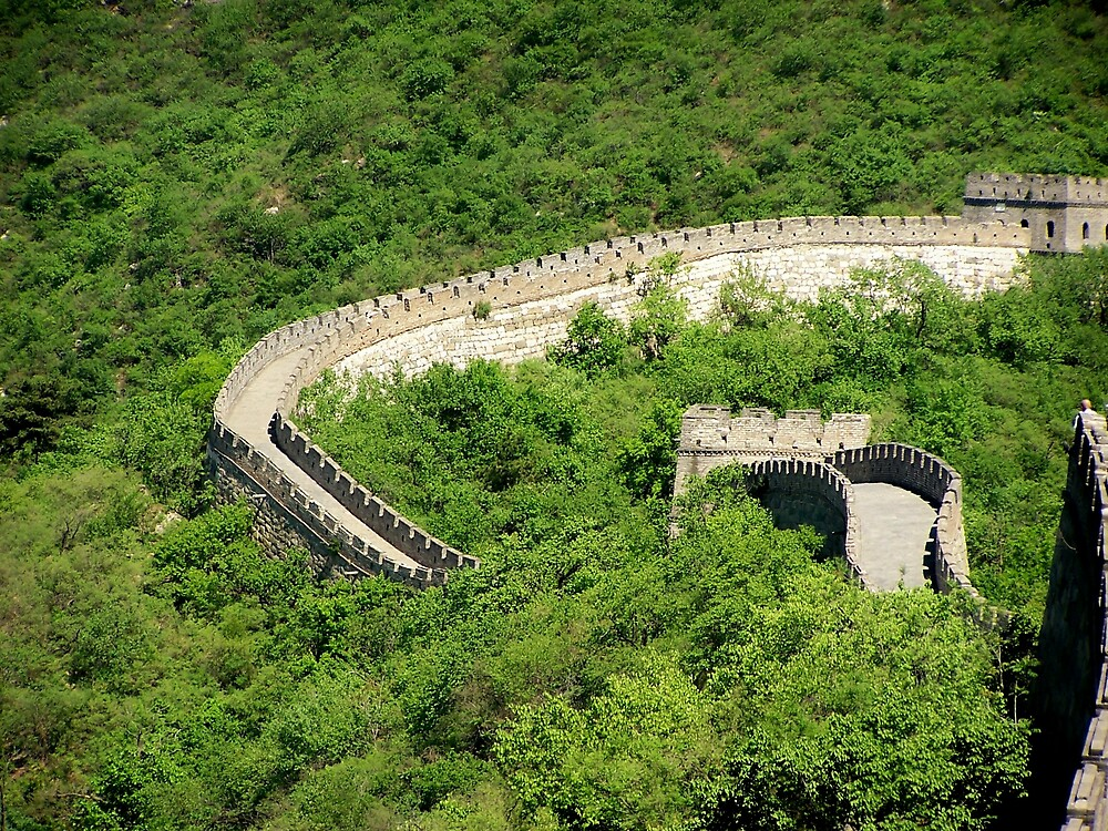 Great Wall, Mutianyu, Beijing 2 by Carrie Norberg