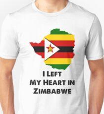 Ich verließ mein Herz in Simbabwe Unisex T-Shirt