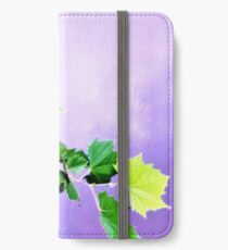 Sycamore Tree Leaves Over Water  iPhone Wallet