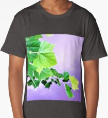 Sycamore Tree Leaves Over Water  Long T-Shirt