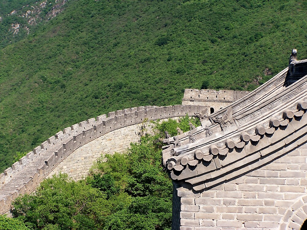 Great Wall, Mutianyu, Beijing 7 by Carrie Norberg