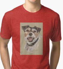 Terrier portrait Tri-blend T-Shirt