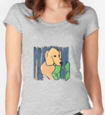 GOLDEN RETRIEVER WELCOME HOME  Women's Fitted Scoop T-Shirt