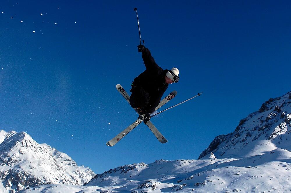 Skier, Tigne, france by Greig  Cowie