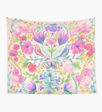 Flowers & Birds Wall Tapestry