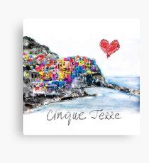 I love Cinque Terre  Canvas Print