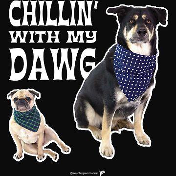 Chillin' with My Dawg-dark by TMan74