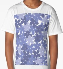 Modern Periwinkle Forget-me-not Floral Pattern Long T-Shirt
