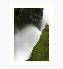 Waterfall at Lydford Gorge on Dartmoor Art Print