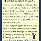 Study Motivational Note to Self by Ruth Durose