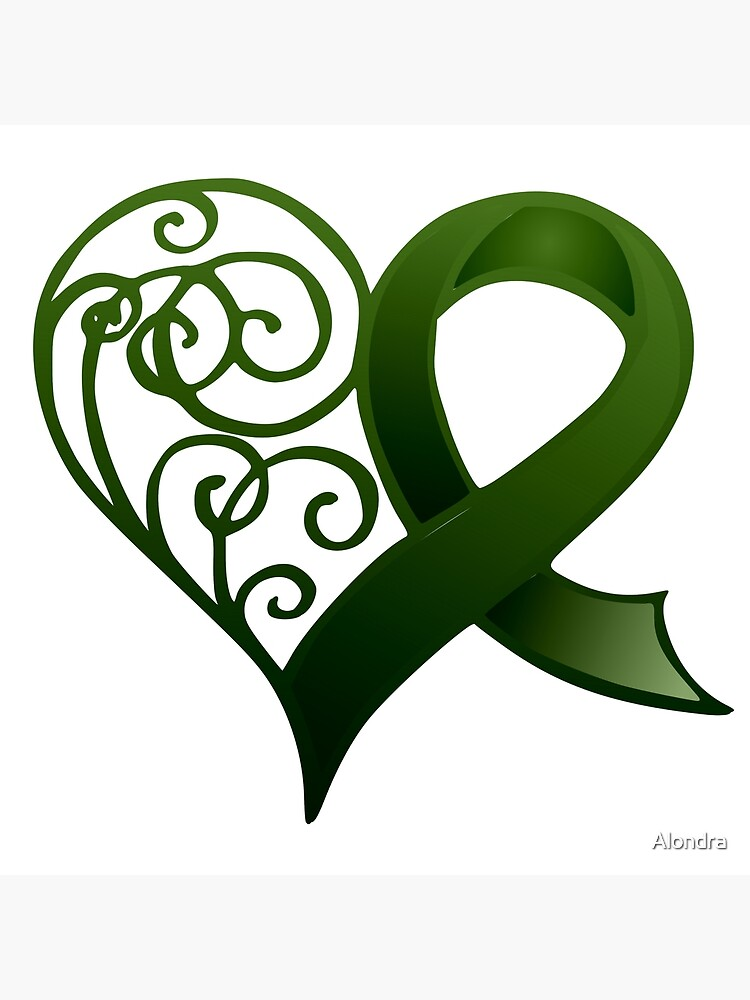 Decorative Heart with Green Ribbon by Alondra