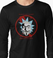 Rick for Vendetta - Rick and Morty and V for Vendetta Crossover T-Shirt