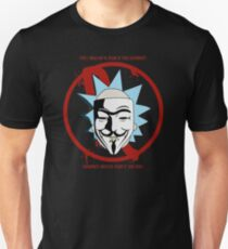 Rick for Vendetta - Rick and Morty and V for Vendetta Crossover Unisex T-Shirt