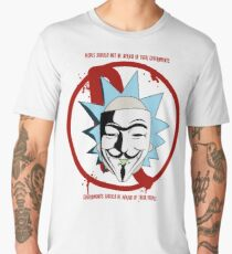 Rick for Vendetta - Rick and Morty and V for Vendetta Crossover Men's Premium T-Shirt