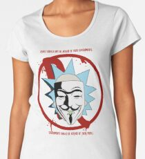 Rick for Vendetta - Rick and Morty and V for Vendetta Crossover Women's Premium T-Shirt