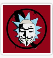 Rick for Vendetta - Rick and Morty and V for Vendetta Crossover Sticker