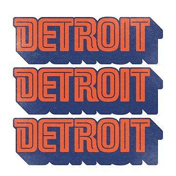 Old School Retro Detroit by IdleCo
