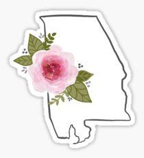 Alabama State Silouette  Sticker