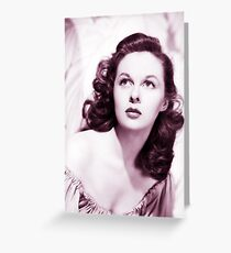 Susan hayward old color Greeting Card
