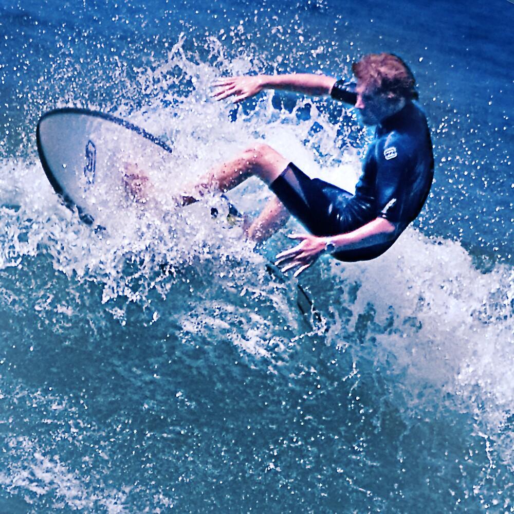 RedBeach Surfer at Belmont NSW Australia by Maggiebee