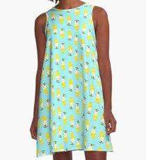 Summer Pineapple Float A-Line Dress
