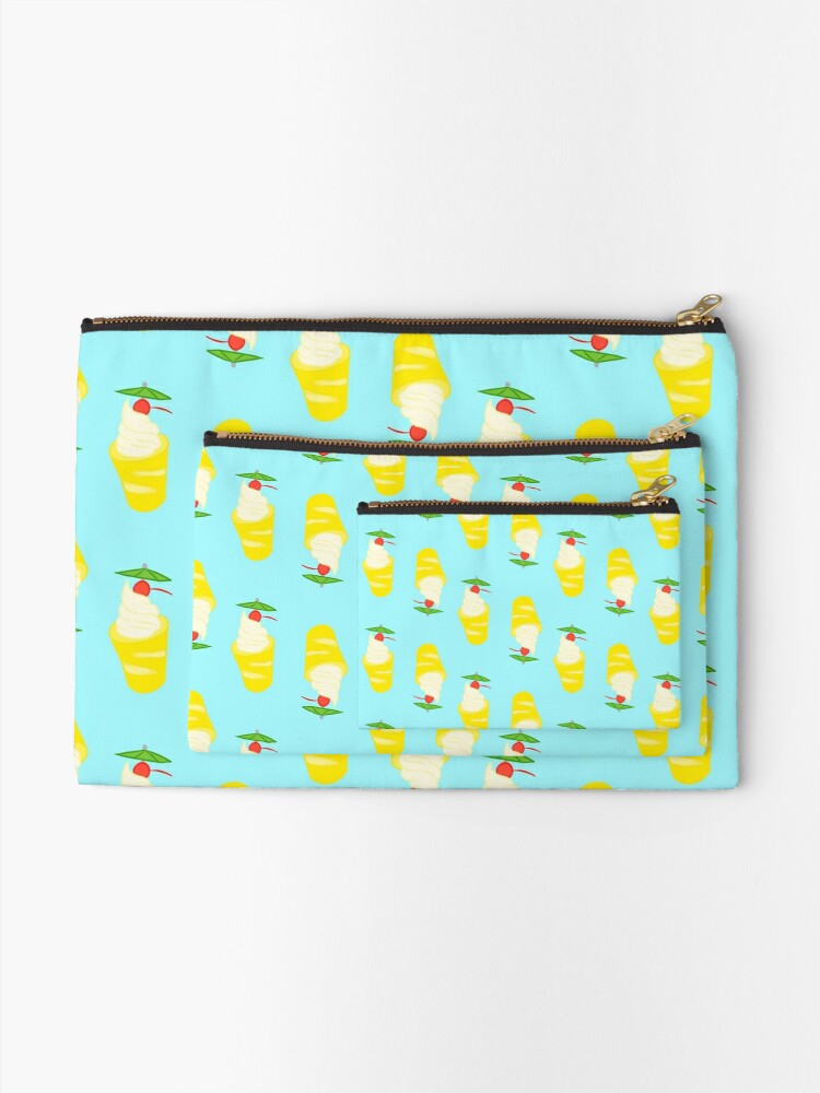 Alternate view of Summer Pineapple Float Zipper Pouch