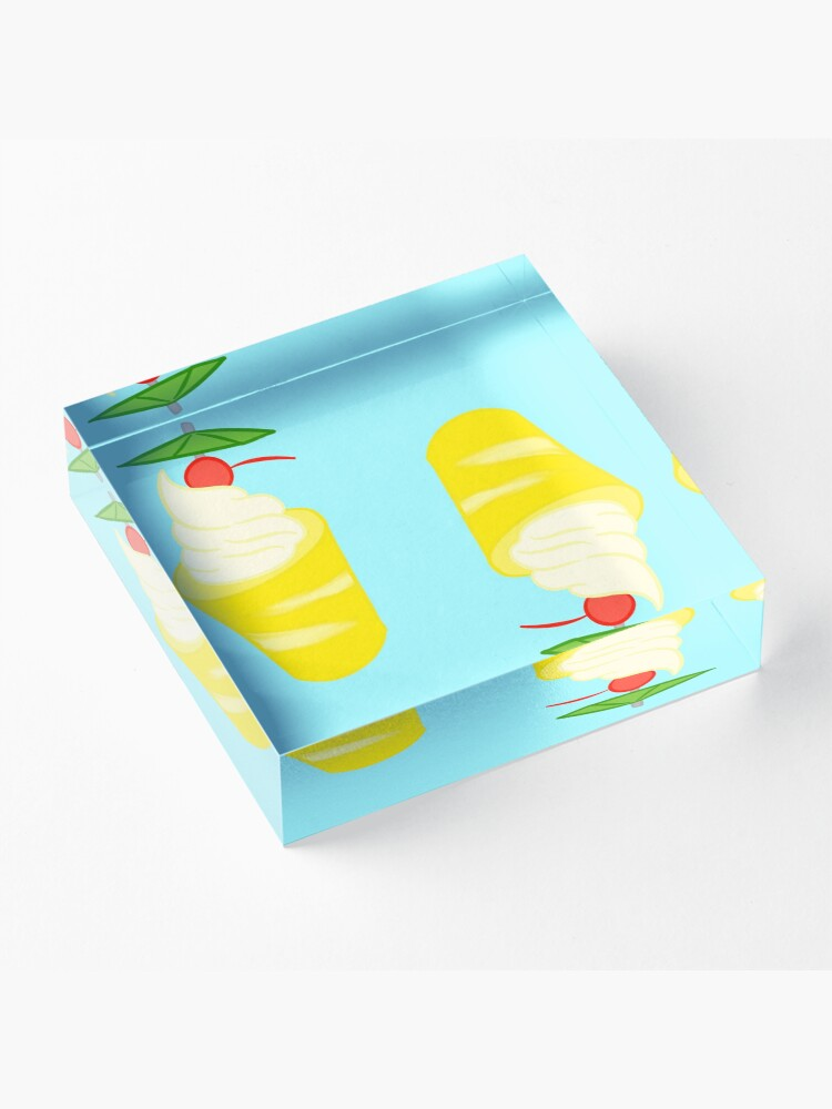 Alternate view of Summer Pineapple Float Acrylic Block