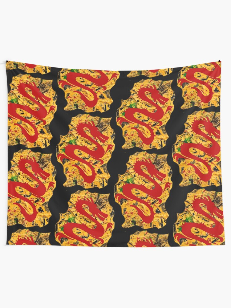 Alternate view of RED DRAGON Tapestry