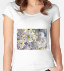 Japanese Blossoms Women's Fitted Scoop T-Shirt