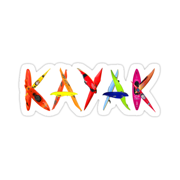 Quot Kayak Graffiti T Shirt Quot Stickers By Phil Hemsley