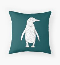 Geometric Penguin Throw Pillow