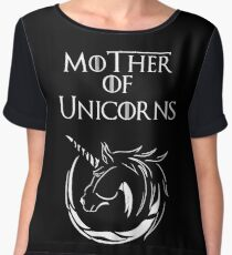 MK Mother of Unicorns (White) Chiffon Top