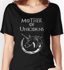 MK Mother of Unicorns (White) Women's Relaxed Fit T-Shirt