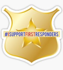 I Support First Responders Sticker