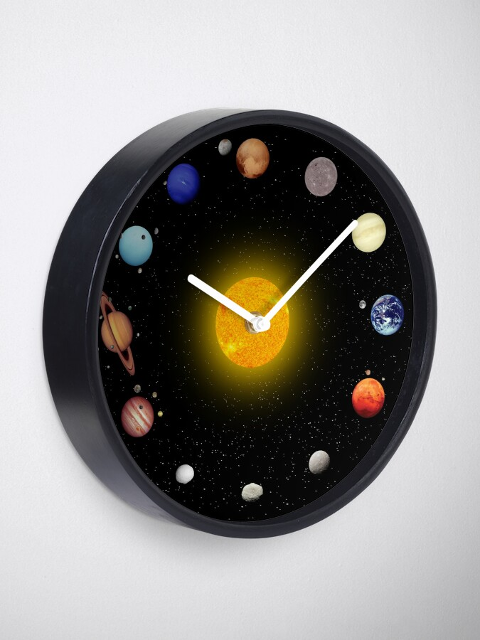Alternate view of Space Pattern Clock