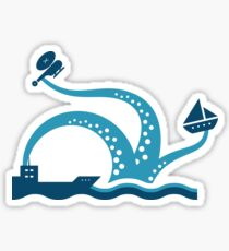 The Sometimes Friendly Sea Monster Sticker