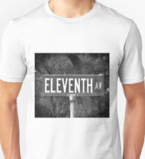 Eleventh Av Street Sign Unisex T-Shirt