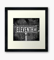 Eleventh Av Street Sign Framed Print